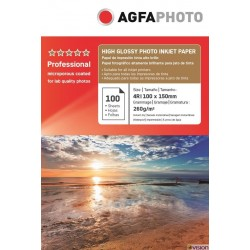 Hartie AGFA 4R (10x15) RC (resin coated, microporous) side 260g/mp pachet 100 coli