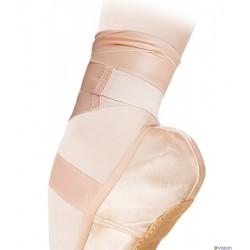 Panglica satin cu insertie elastica Grishko 0510/4 pentru pointe si flexibili