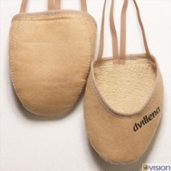 Varfuri gimnastica ritmica Sandra (cipici, half shoes, toe caps) marca Dvillena