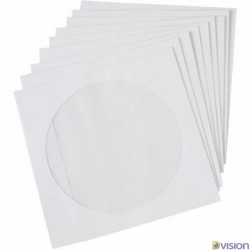 Plicuri albe CD din hartie cu fereastra - pachet 25 bucati