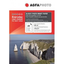 Hartie AGFA A4 glossy single side 180g/mp cu 20 coli/pachet.
