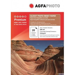 Hartie AGFA A4 glossy single side 210g/mp cu 20 coli/pachet.