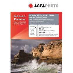 Hartie AGFA A4 glossy single side 240g/mp cu 20 coli/pachet.