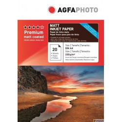 Hartie AGFA A4 mata double side 220g/mp pachet 20 coli