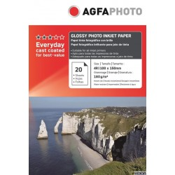 Hartie AGFA 4R (10x15) glossy single side 180g/mp pachet 100 coli