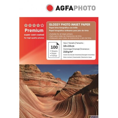 Hartie AGFA 4R (10x15) glossy single side 210g/mp pachet 100 coli