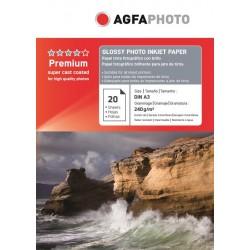 Hartie AGFA A3 glossy single side 240g/mp cu 20 coli/pachet