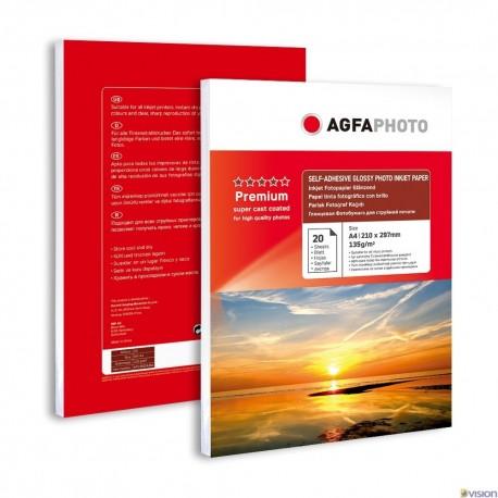 Hartie autoadeziva AGFA Photo super lucioasa format A4 135g