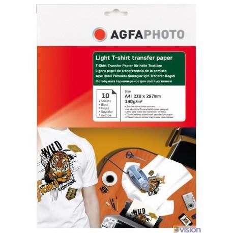 Hartie transfer termic pentru tricouri albe (deschise la culoare) Agfa format A4 greutate 140g/mp