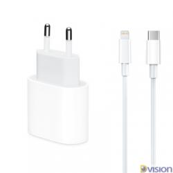 Incarcator iPhone USB cu cablu USB-C-lightning