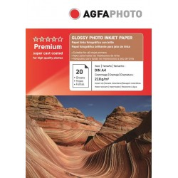 Hartie AGFA A4 glossy single side 210g/mp cu 20 coli/pachet.