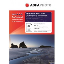 Hartie AGFA A4 RC (resin coated, microporous) glossy SATIN single side 260g/mp pachet 20 coli