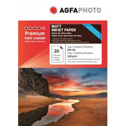 Hartie AGFA A4 mata double sided (fata-verso) 220g/mp pachet 20 coli