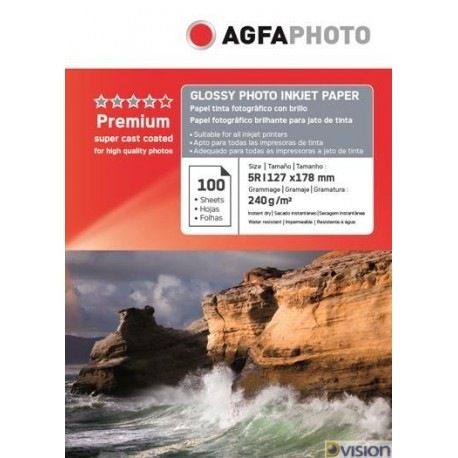 Hartie AGFA 5R (13x18) glossy single side 240g/mp pachet 100 coli
